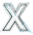 Font letter X vector image vector image