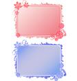 frameflower vector image vector image