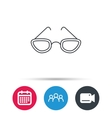 Glasses icon Reading accessory sign vector image vector image
