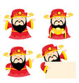 god of wealth set vector image vector image