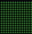green and black lumberjack seamless pattern vector image