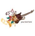 guitar with floral vector image vector image