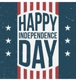 Happy Independence Day vintage Background vector image