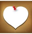 Heart Blank Gift Tag vector image vector image