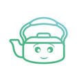 kawaii kettle icon vector image