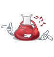listening music wine decanter on the table cartoon vector image