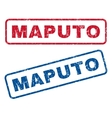 Maputo Rubber Stamps vector image vector image
