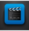 Media film symbol icon on blue vector image vector image