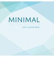 minimal blue triangle diamond like style banner vector image vector image