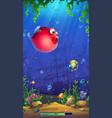 mobile format playing field mahjong fish vector image vector image