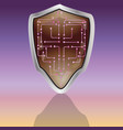 modern futuristic shield and armor vector image vector image