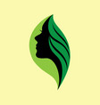nature girl logo vector image vector image