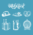 oktoberfest symbols collection drawn vector image vector image