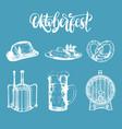 oktoberfest symbols collection drawn vector image