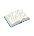 open blue book vector image vector image