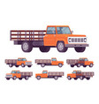 orange empty truck vector image vector image