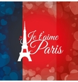 Paris Landmarks design vector image