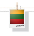 photo of lithuania flag vector image vector image