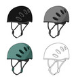 Plastic helmet climbermountaineering single icon