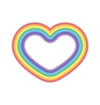 Rainbow icon heart realistic vector image vector image