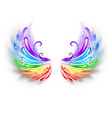 Rainbow Wings on a White Background vector image vector image