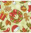 Retro Christmas Seamless Pattern vector image vector image