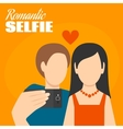 Romantic Selfie Poster vector image vector image