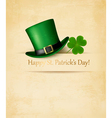 Saint Patricks Day background with clove leaf and vector image vector image