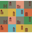 Seamless background with buildings vector image vector image