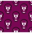 Seamless Pattern Halloween Skulls vector image