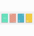 set bright decorative covers abstract colorful vector image vector image