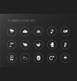 set of 15 editable climate icons includes symbols vector image vector image