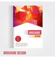 Set of brochure cover design template with vector image vector image