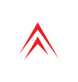simple arrow up geometric logo vector image vector image