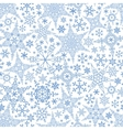 Snowflakes seamless patternWinter crystal stars vector image vector image