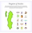 sweden concept kingdom cartoon style vector image vector image