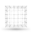 Wireframe polygonal geometric element Cube with vector image vector image
