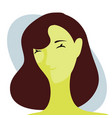 woman smiling female emotion face expression vector image vector image