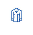 women formal wear line icon concept women formal vector image