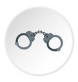 handcuffs icon circle vector image