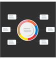 business data circle design image vector image