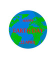 earth day holiday poster vector image