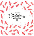 merry christmas cards with botanical elements vector image
