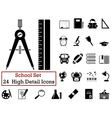 Set of school icons vector image