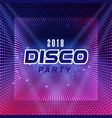 2018 disco party purple dot square background vect vector image