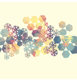 Abstract background with multicolor hexagons vector image vector image