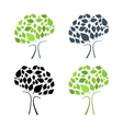 Abstract Tree Set Isolated on White Backgrou vector image vector image