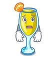 afraid mimosa mascot cartoon style vector image vector image