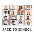 back to online school background distance vector image