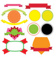 banner label badge templates vector image